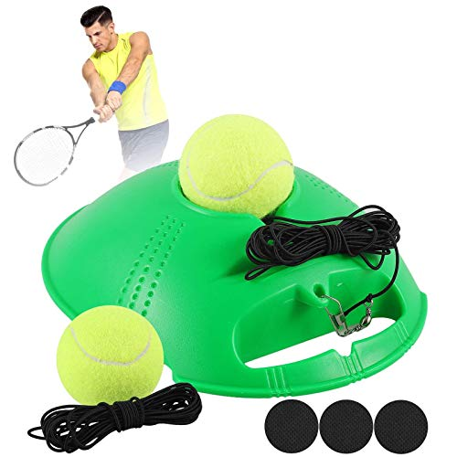 Gulymm Tennis Trainer, Tennis Trainer Rebound for Self Tennis Practice, Tennis Practice Equipment with 2 String Balls