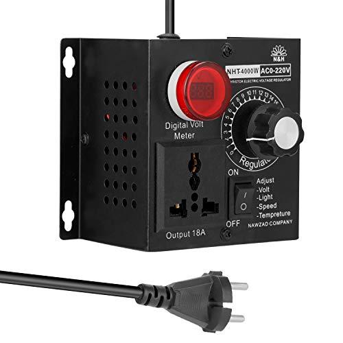 Regolatore di tensione, variatore, AC 220 V, 4000 W, regolatore di tensione variabile, portatile, velocità e temperatura, leggera, tensione variabile, regolabile