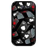 Hapdey Funda Negra para [ Samsung Galaxy Grand Lite - Grand Neo - Neo Plus ] diseño [ Cartas del Casino Volando ] Carcasa Silicona Flexible TPU