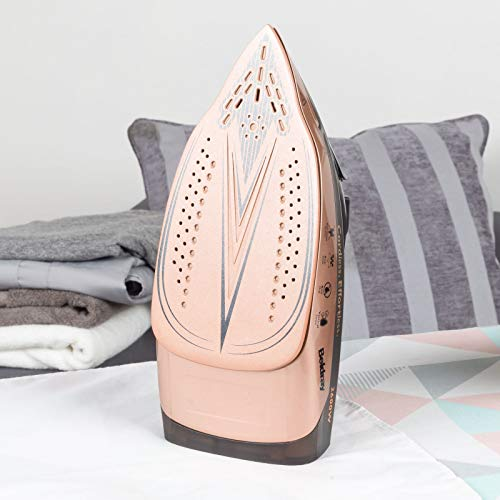 Beldray BEL0747NRG 2 in 1 Cordless Steam Iron | 300 ml Water Tank | Self Cleaning | Anti-Drip & Anti-Calc Function| 2600 W | Rose Gold
