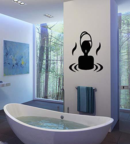 Etiqueta de la Pared del baño Etiqueta de la Pared del Vinilo de la relajación Etiqueta de la Pared del salón de Belleza de la Muchacha del diseño del Balneario 74x88cm