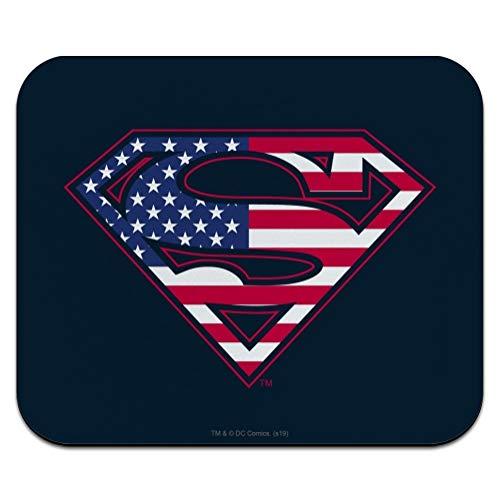Superman USA American Flag Shield Logo Low Profile Thin Mouse Pad Mousepad