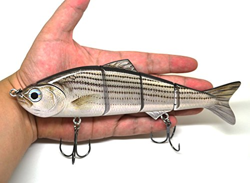 "8"" Multi Jointed Swimbait Fishing Lures Bait Baits Life-Like Lure Minnow Bass Pike Musky New (C)"