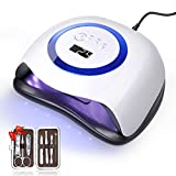 168W UV LED Nail Lamp, 42 Lights Faster Gel Nail Dryer Professional Curing