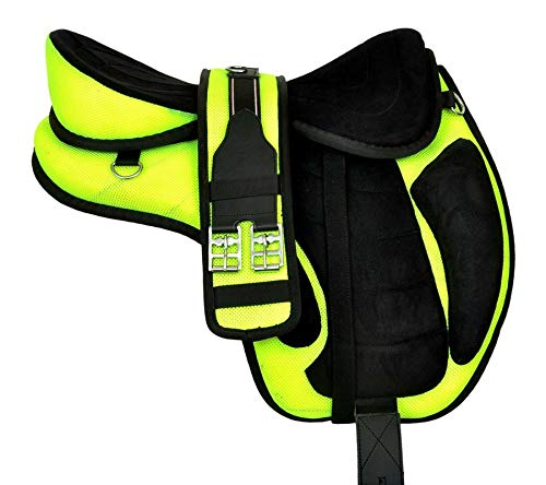Wonder Wish - Freemax - Silla de montar a caballo de uso general, tamaño de 30,4 a 45,7 cm, verde, 16 Inches Seat