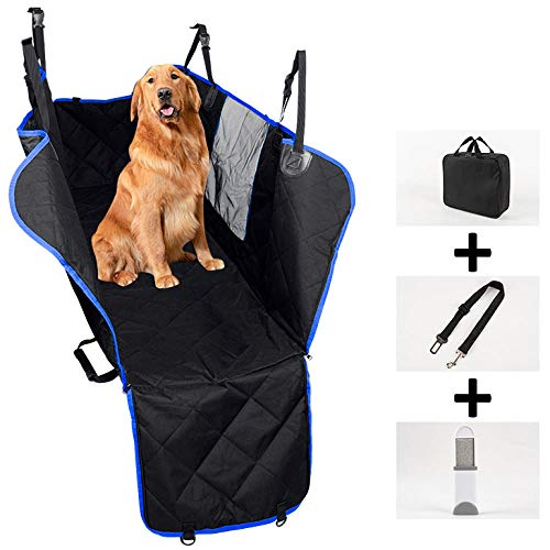 TTXP Coche Mascotas Azul Corta Pelo para Perro para Perros, Gatos, Mascotas, Banco, Asiento de Coche, Protector