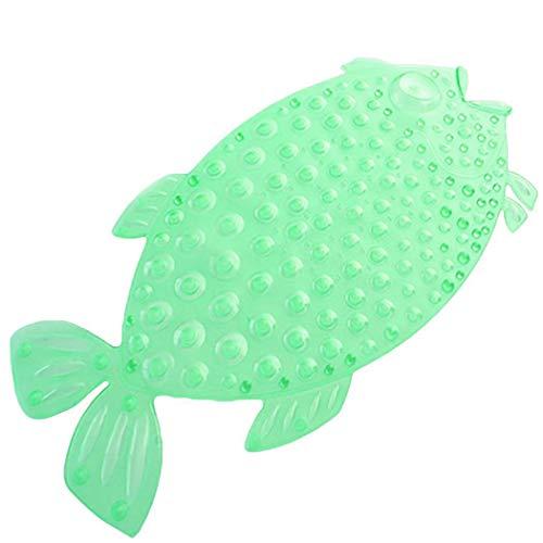 Antirutschmatte für Badewanne Kinder Fisch Grün | Rutschfest - Pflegeleicht | Wanneneinlage Duschmatte