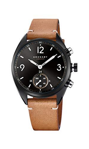 Kronaby apex Unisex Uhr analog Quarzwerk mit Leder Armband S3116/1