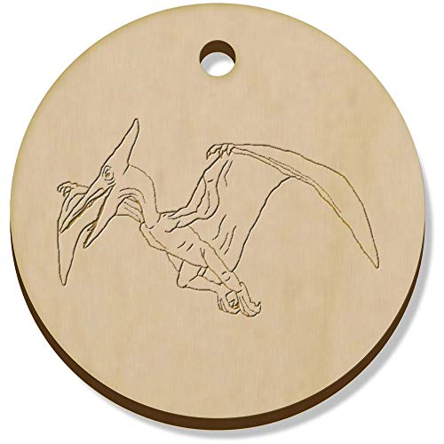 Azeeda 11 x 34mm 'Pterodactyl' Wooden Pendants / Charms (PN00062132)