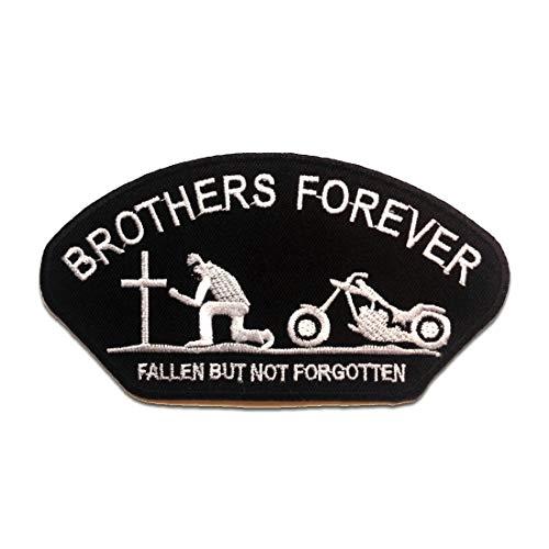 BROTHERS FOREVER Biker - Parches termoadhesivos bordados aplique para ropa, tamaño: 12,9 x 7 cm