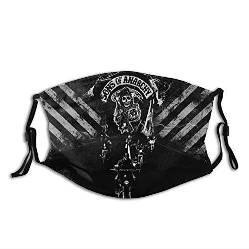 KRR So-Ns Ana-Rchy Motorcycle Gang Neutral Gift Decoration Comfortable Breathable Face Mask Adjustable for Outdoor Running