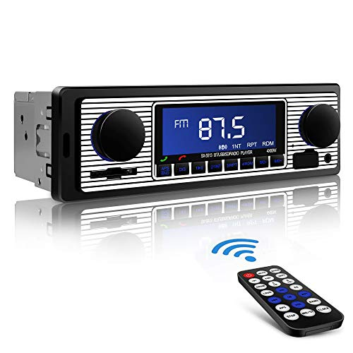 Aigoss Autoradio Bluetooth, Car Stereo Main Libre 4x60W FM Radio Voiture Récepteur avec Lecteur MP3 avec Intégré EQ Compatible avec USB/AUX in / MP3 / FLAC/SD et...