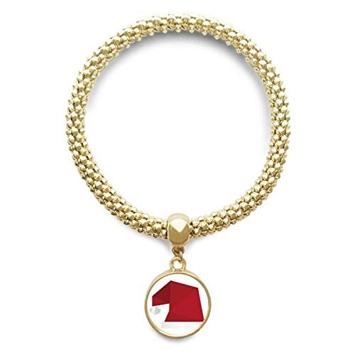 DIYthinker Damen Abstract Christmas Hut Origami Muster Goldene Armband Laufende Anhänger Schmuck-Kette