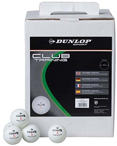 Best Price DUNLOP 1 Star School/Club Ping Pong Training Table Tennis Ball White Pack of 144