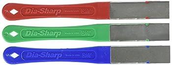 DMT Dia-Sharp Mini-Hone Kit, Set de 3 affûteurs Diamant à 3 granulométries, 6,35 cm / 2,5 Pouces, D2K, Multicolour