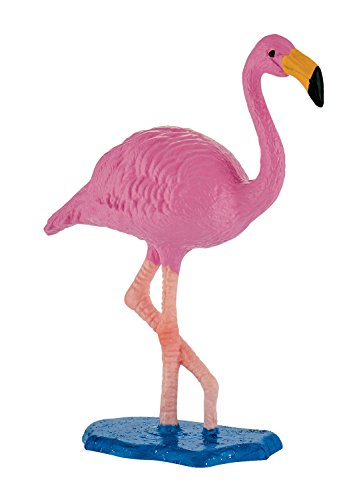 Bullyland 63716 - Spielfigur, Flamingo, ca. 7 cm, pink groß, liebevoll handbemalte Figur, PVC-frei, tolles Geschenk für Jungen und Mädchen zum fantasievollen Spielen