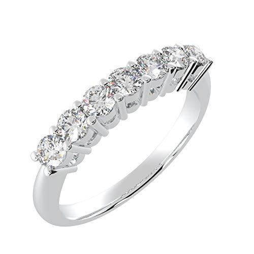 BuyFineDiamonds - Gold 9 Karat (375) 9 Karat (375) Weißgold Rund Diamant
