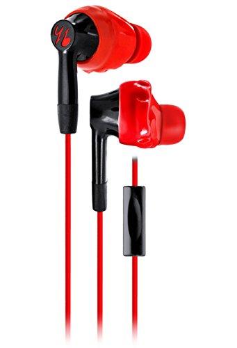 JBL Yurbuds Inspire 300 In-Ear Sport Kopfhörer (TwistLock Technologie, Integrierter Universal 1-Taster-Fernbedienung/Mikrofon, Kompatibel mit Smartphones/Tablets/MP3 Geräten) rot/schwarz