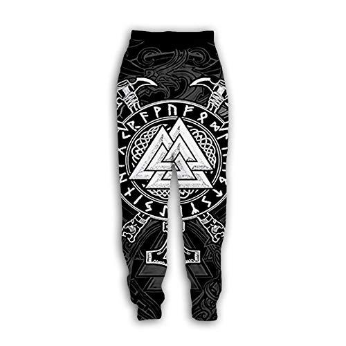 Mannen/vrouwen joggers - 3D gedrukte creatieve Viking Tattoo joggingbroek etnische totem patronen broek