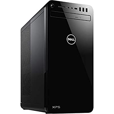 Dell 8930 XPS Tower Desktop Computer, 9th Generation Intel Core i7-9700, NVIDIA GeForce GTX 1050Ti 4GB Graphics, 256GB SSD plus 1TB HDD, 16GB Memory, Windows 10 Home, DVD-RW, Black