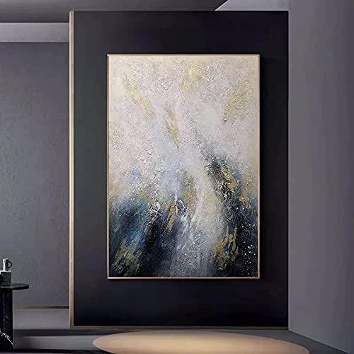 Impresión en lienzo Arte de la pared Arte abstracto Pintura al óleo sobre lienzo Arte de la pared Imagen Decoración para la sala de estar Decoración para el hogar El mejor regalo 50x70cm Sin marco