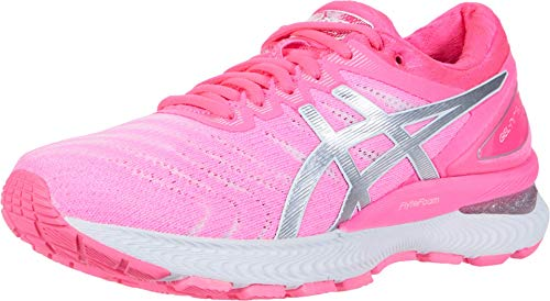 ASICS Women's Gel-Nimbus 22 Running Shoes, 8M, Hot Pink/Pure Silver