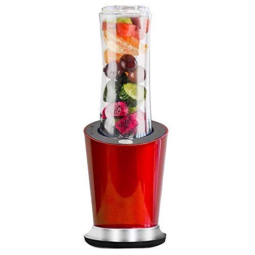 ZWWZ Juicer Machines300W Blender, Mini Alimento Portátil Mini Blender Mezclador Milkshake Juicer BPA Free 600ml Botella de Deporte Secupa 100ml Grinder y 400ml Copa, Rojo HAIKE