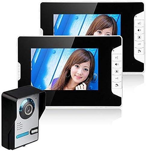 sin mínimo TQ 7 Pulgadas Video Puerta Puerta Puerta teléfono Timbre Portero Kit 1-cámara 2-Monitor visión Nocturna  elige tu favorito