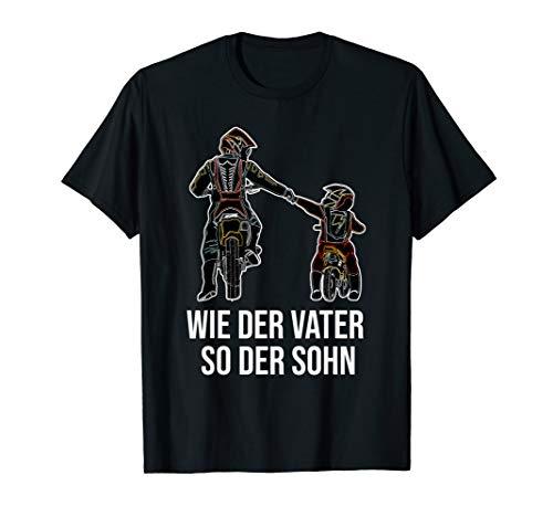 Wie der Vater so der Sohn Papa Motocross Motorrad Dirt Bike T-Shirt