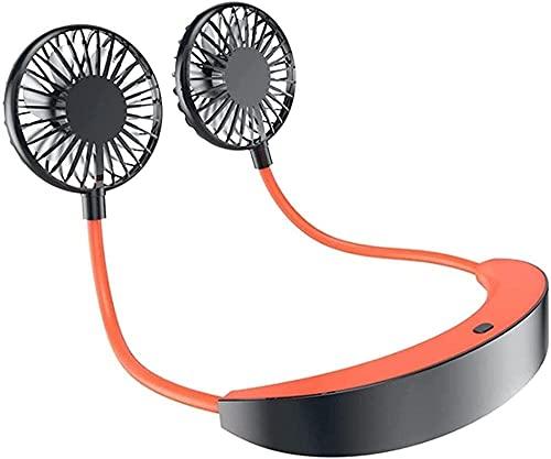 wsbdking Ventilador portátil del Ventilador electrónico del refrigerador de Aire del Aire Libre cómodo USB de la Carga del Ventilador del Cuello de la Carga del Ventilador Mini Fan Gris 18x31x3cm