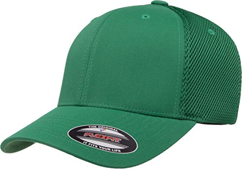 Flexfit Unisex-Adult's Ultrafibre Airmesh Fitted Cap, Green, L/X-Large