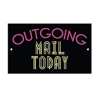 165グレートティンサイン発信メール今日アルミメタルサイン壁装飾12x8インチ
