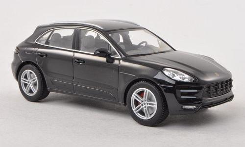 Unbekannt Porsche Macan Turbo, schwarz , 2013, Modellauto, Fertigmodell, Minichamps 1:43