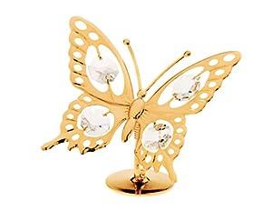 24k Gold Plated Figurine with Swarovski Crystals - Nature