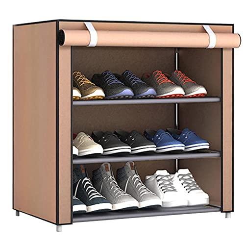 YXKA Rack Shoe Sturdy & Elegant Stazo Ajustable Estante Duradero Y Estable Ahorro De Espacio Torre De Zapatos Multi-Uso Organizador De Estantes,Beige