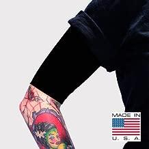 Tat2X Ink Armor Premium Half Arm Tattoo Cover Up Sleeve - No Slip Gripper - U.S. Made - Black - XL2X (Single Half arm Sleeve)