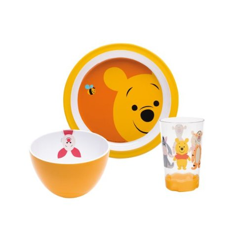 Zak Designs WPAI-0391 Disney Set Enfant 3 Pièces Winnie