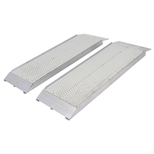 Guardian S-3612-1500-P Dual Runner Shed Ramps with Punch Plate Surface - 12' Wide, 3' Long