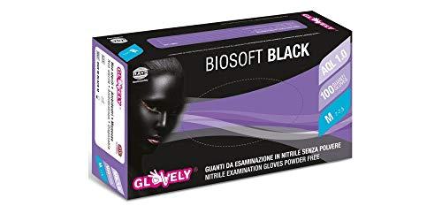 RAYS BIOSOFT PF BLACK 100 GUANTI DA ESPLORAZIONE IN NITRILE SENZA POLVERE