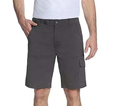 Gerry Mens Stretch Cargo 5 Pocket Shorts Venture Flat Front Woven Hiking Shorts for Men (32, Slate)