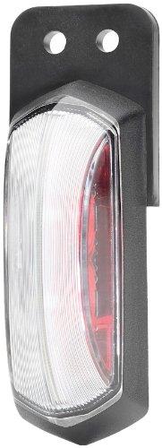 HELLA 2XS 205 020-041 LED-Umrissleuchte, rot / glasklare Lichtscheibe, 12 V, Direktverschraubung, 500 mm Kabel, verschweißt, ohne Steckergehäuse, schwarzer Rahmen für Direktverschraubung