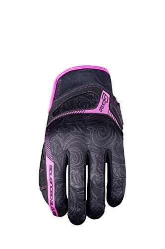 Cinco avanzada guantes RS3Replica para mujer Adulto Guantes, Negro/Rosa, tamaño 08