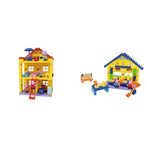 Big-Bloxx Peppa Pig Haus - Peppa´s House, Construction Set, Big-Bloxx Set bestehend aus Familie und Gebäude, 107 Teile, Multicolour & 800057075 BAU- & Konstruktionsspielzeug, Mehrfarbig