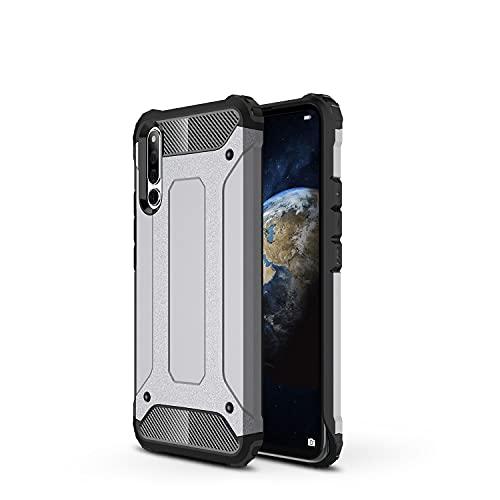 ZHIWEI Das tragbare Handy Tasche Schutzhülle für Huawei Honor Magic 2 Hülle, TPU + PC Stoßfänger Dual Layer Stoßdämpfe Hybridschutz Robustes Fall (Color : Grey)