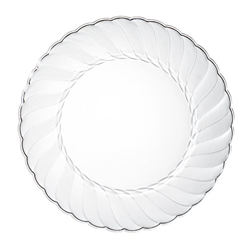 "Premium Clear Plastic Plates By Alpha & Sigma - 100pcs 9"" Food Grade Clear Plastic Plates - Washable & Reusable - Perfect For Birthdays, Parties, Celebrations, Picnics, Buffets, Catering & More"