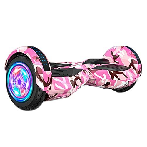 Hover Scooter, Tabla De Autoequilibrio, Monopatín Eléctrico De Autoequilibrio, Hoverboard Eléctrico por La Borda con Música Bluetooth/Rueda Intermitente De Led, Regalo, para Niños