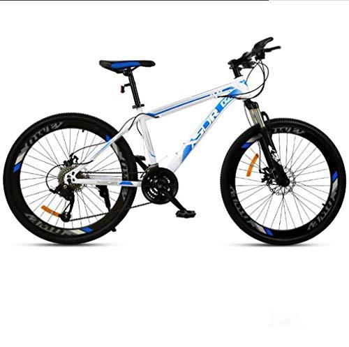XIUYU Stärkere Männer und Frauen Radfahren Mountainbike Rennrad Strand Snowmobile Fahrrad Cruiser Fahrräder 21 Geschwindigkeit 26 Zoll-Räder Weiß