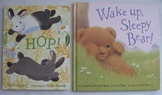 Lot of 2 Toddler Hardbacks Wake up, Sleepy Bear! and Hop!