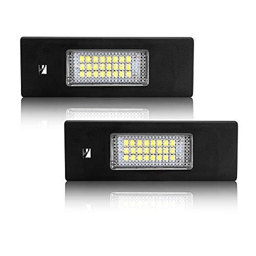 Safego LED Kennzeichenleuchte für B-M-W E87, 12V 6000K Xenon Weiß, Nummernschildbeleuchtung, E81 F20 E63 E64 F12 F13 F06 K48 Z4/E85, 2 Stück, 1 Jahr Garantie