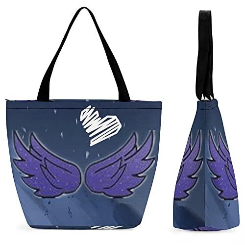 G-acha Life - Bolsa de hombro para mujer, impermeable, con cremallera, bolsa de viaje, bolsa de playa, bolsa de compras para mujer, bolsa de mano plegable, color Multicolor, talla Talla única